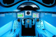 Το εσωτερικό του οχήματος που πιάνει τα 1609 χλμ/ώρα