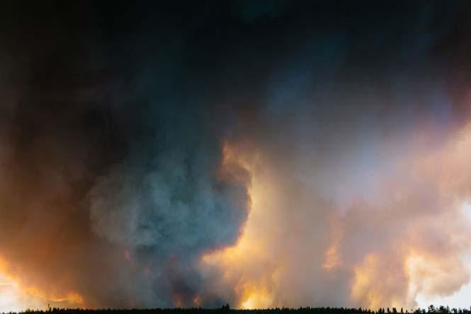 Φωτογράφηση γάμου με φόντο δασική πυρκαγιά (13)