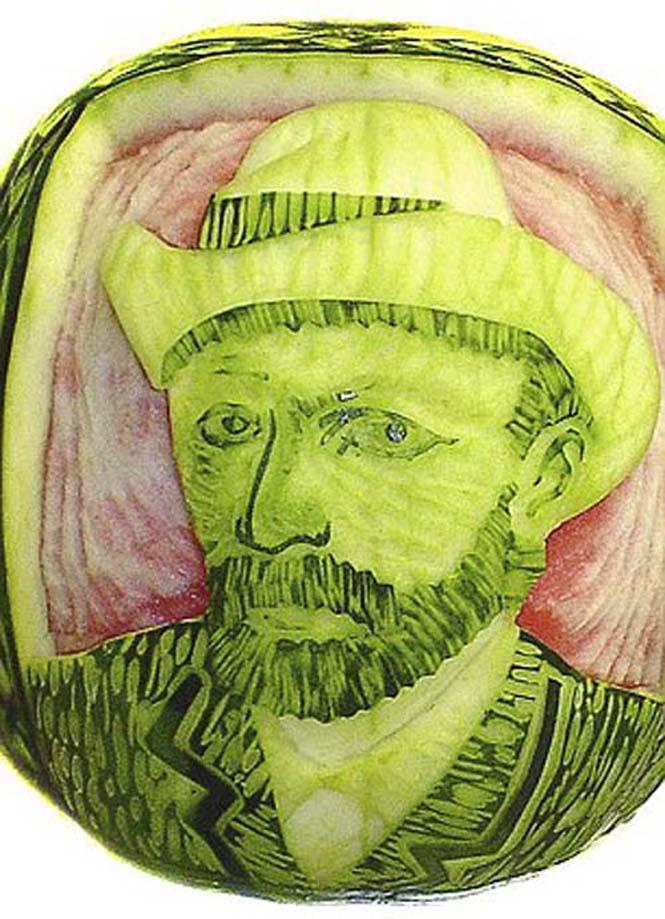 Γλυπτά από φρούτα και λαχανικά (13)