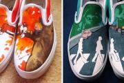Καλλιτέχνης ζωγραφίζει απίστευτες εικόνες σε παπούτσια (1)