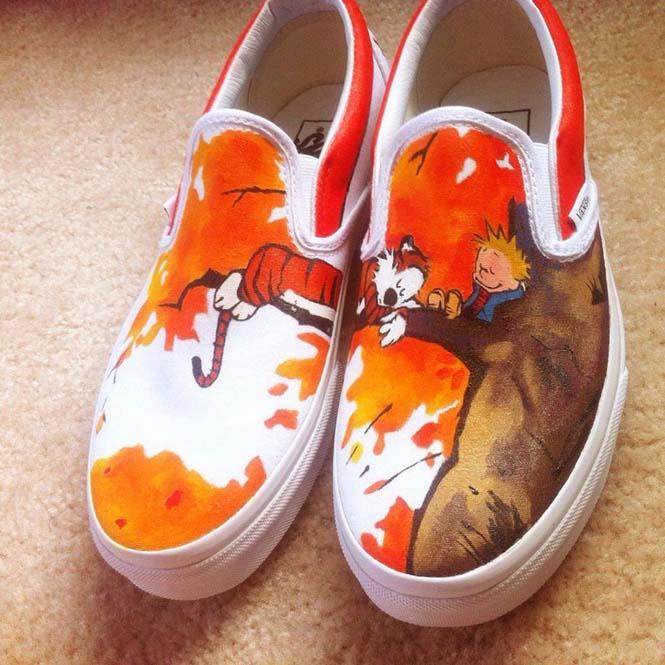 Καλλιτέχνης ζωγραφίζει απίστευτες εικόνες σε παπούτσια (2)