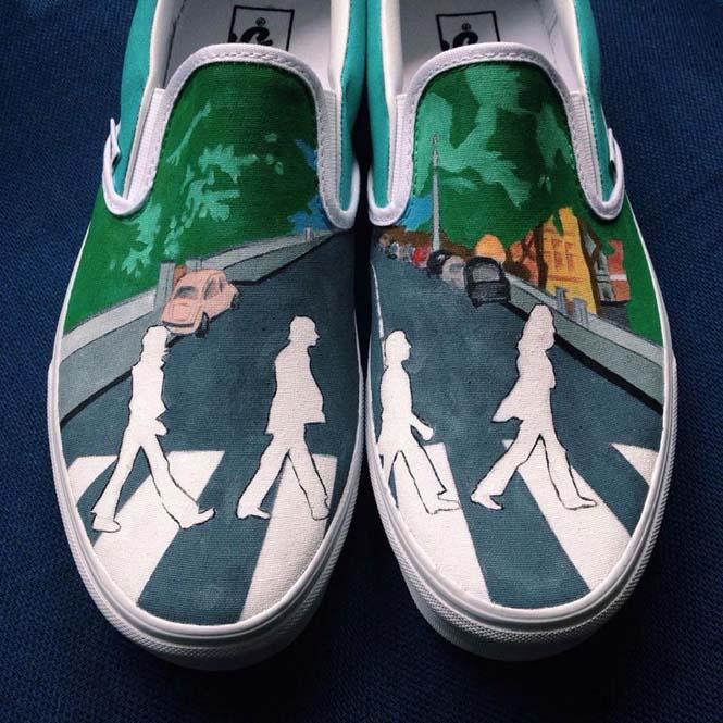 Καλλιτέχνης ζωγραφίζει απίστευτες εικόνες σε παπούτσια (3)