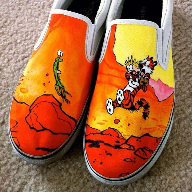 Καλλιτέχνης ζωγραφίζει απίστευτες εικόνες σε παπούτσια (4)