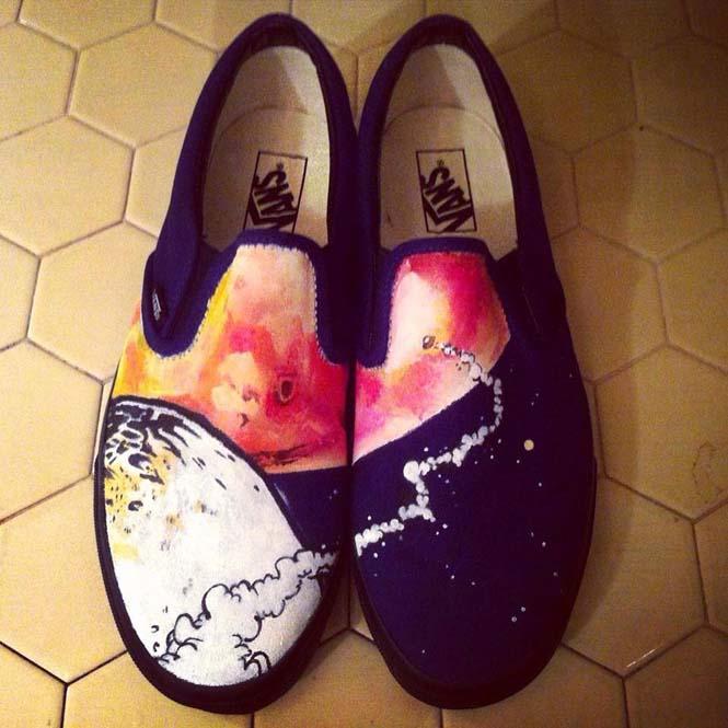 Καλλιτέχνης ζωγραφίζει απίστευτες εικόνες σε παπούτσια (5)