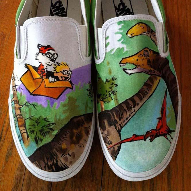 Καλλιτέχνης ζωγραφίζει απίστευτες εικόνες σε παπούτσια (7)