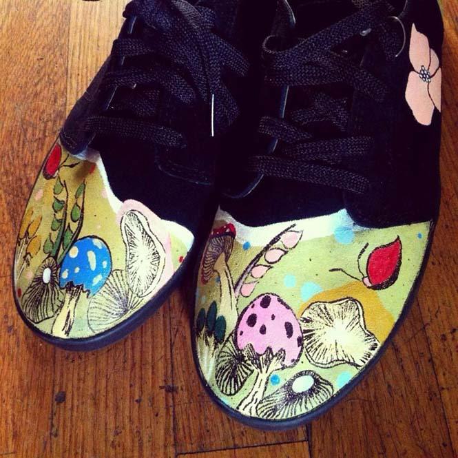 Καλλιτέχνης ζωγραφίζει απίστευτες εικόνες σε παπούτσια (9)