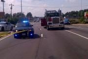 Καρότσα φορτηγού προσγειώθηκε σε ΙΧ - η οδηγός βγήκε αλώβητη! (1)