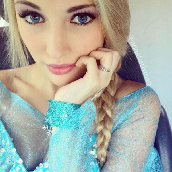 Η κοπέλα που έγινε γνωστή για την ομοιότητα της με την πριγκίπισσα του Frozen (2)