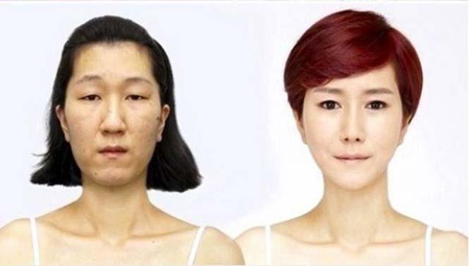 Κορεάτισσα άλλαξε εντελώς το πρόσωπο της (4)