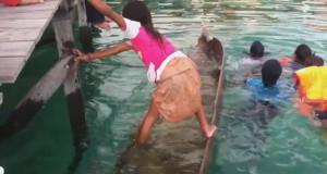 Κοριτσάκι σώζει πλημμυρισμένη βάρκα με ένα απίστευτο κόλπο (Video)