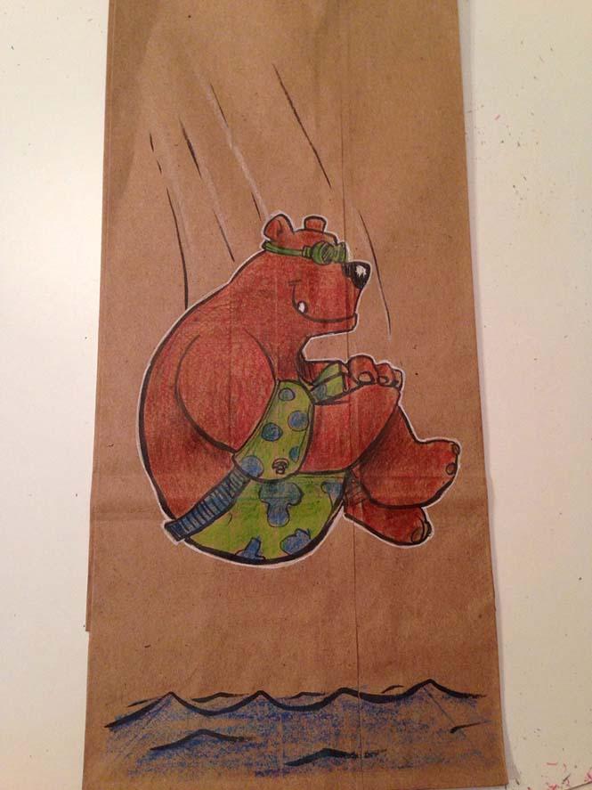 Μπαμπάς ζωγραφίζει στη σακούλα του κολατσιού του γιου του κάθε μέρα (16)
