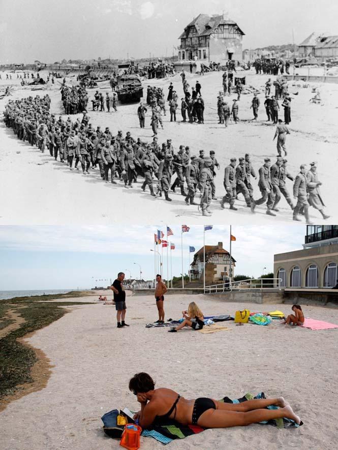 Οι παραλίες της Νορμανδίας το 1944 και σήμερα (1)