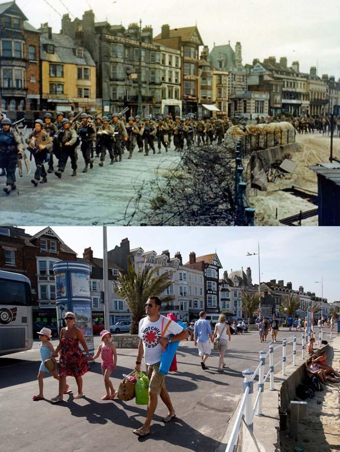 Οι παραλίες της Νορμανδίας το 1944 και σήμερα (2)