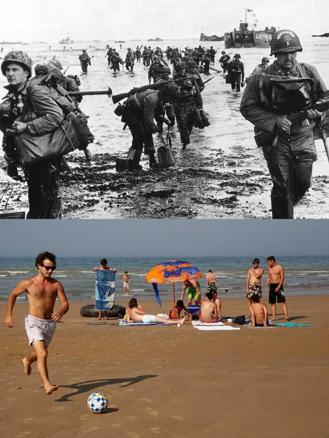 Οι παραλίες της Νορμανδίας το 1944 και σήμερα (3)
