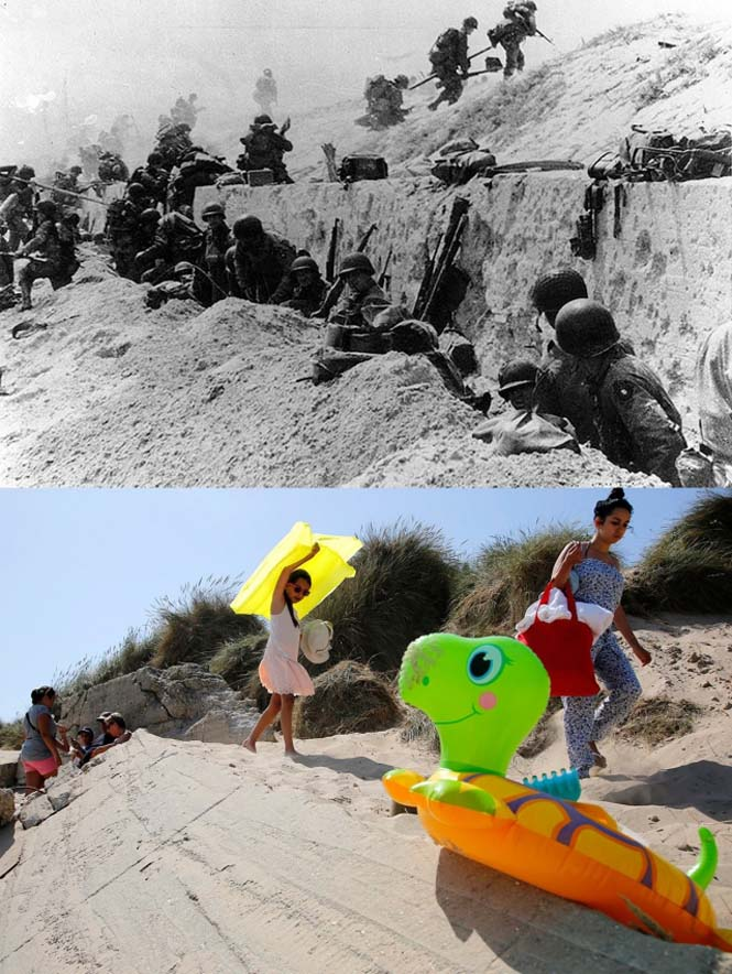 Οι παραλίες της Νορμανδίας το 1944 και σήμερα (4)