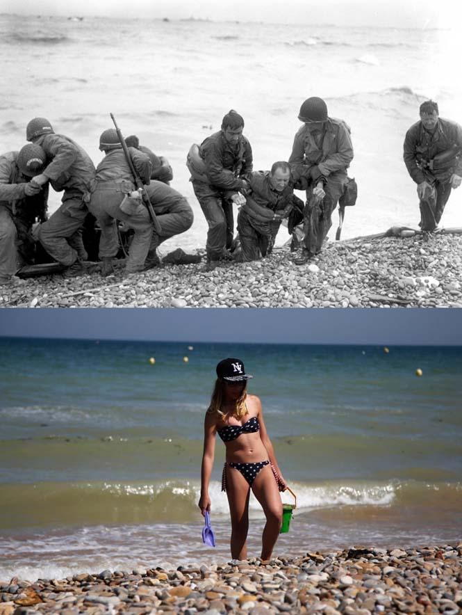 Οι παραλίες της Νορμανδίας το 1944 και σήμερα (5)