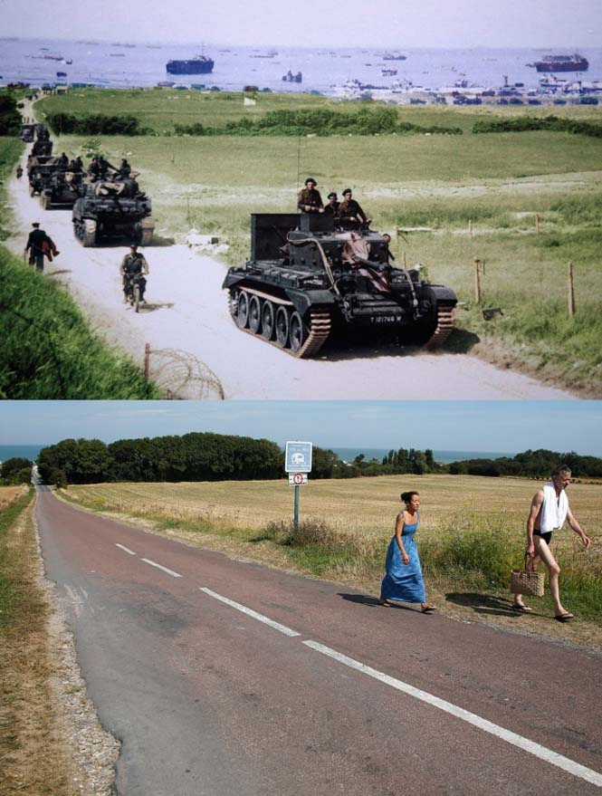 Οι παραλίες της Νορμανδίας το 1944 και σήμερα (6)