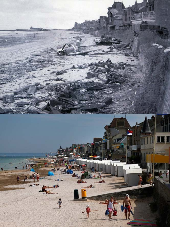 Οι παραλίες της Νορμανδίας το 1944 και σήμερα (7)