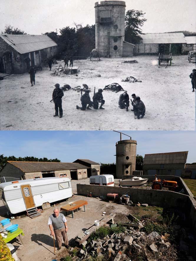 Οι παραλίες της Νορμανδίας το 1944 και σήμερα (8)