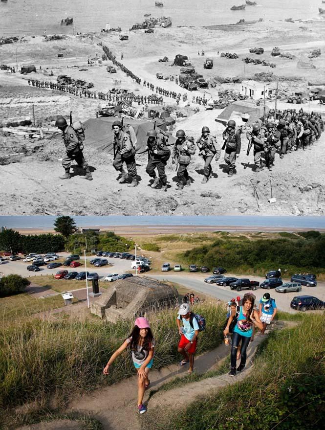 Οι παραλίες της Νορμανδίας το 1944 και σήμερα (10)