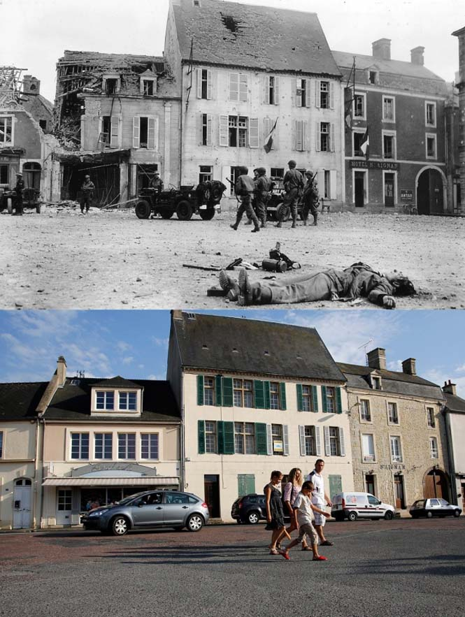 Οι παραλίες της Νορμανδίας το 1944 και σήμερα (12)