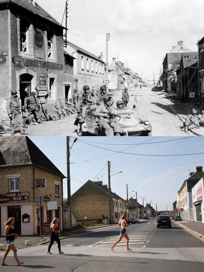 Οι παραλίες της Νορμανδίας το 1944 και σήμερα (13)