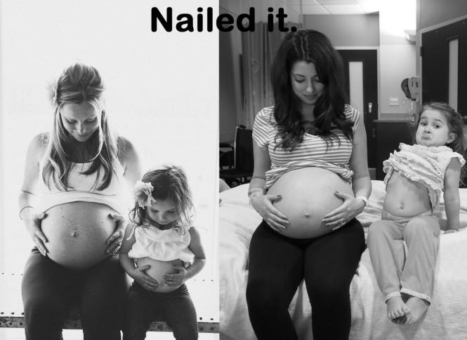 Φωτογραφία εγκυμοσύνης πάει στραβά σε σχέση με το αρχικό πλάνο | Φωτογραφία της ημέρας