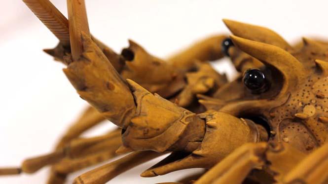Ρεαλιστικός αστακός από ξύλο (4)