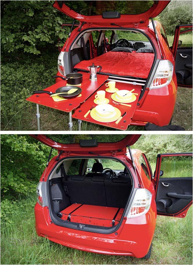 Βαλίτσα που μετατρέπει το αυτοκίνητο σε camping (2)