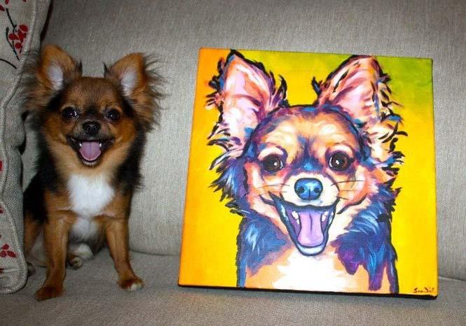 Ζώα ποζάρουν με το πορτραίτο τους (3)