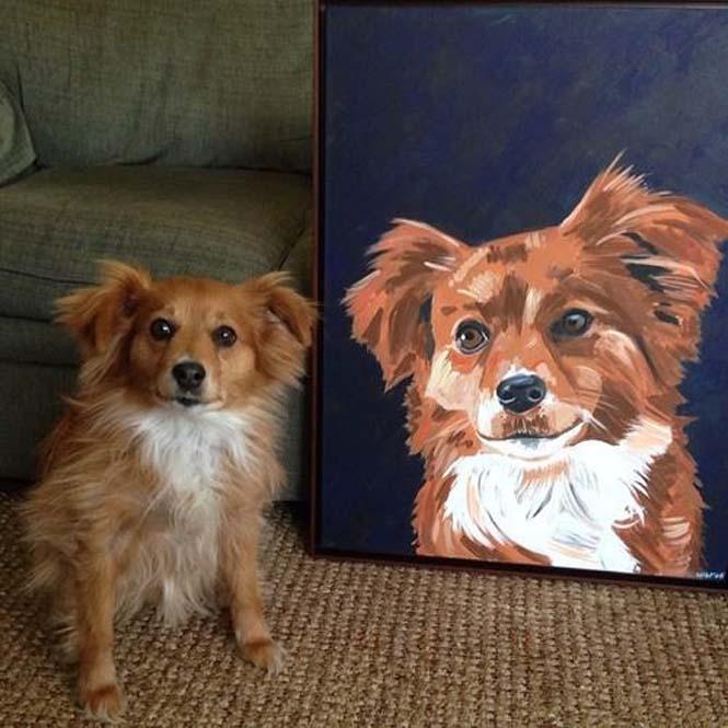 Ζώα ποζάρουν με το πορτραίτο τους (8)