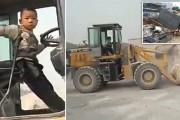 5χρονος οδηγός μπουλντόζας