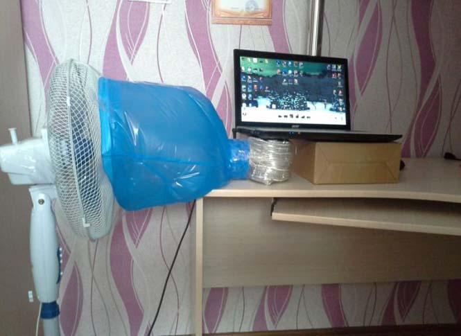 Ανεμιστηράκι για laptop με αυτοσχέδια πατέντα (2)