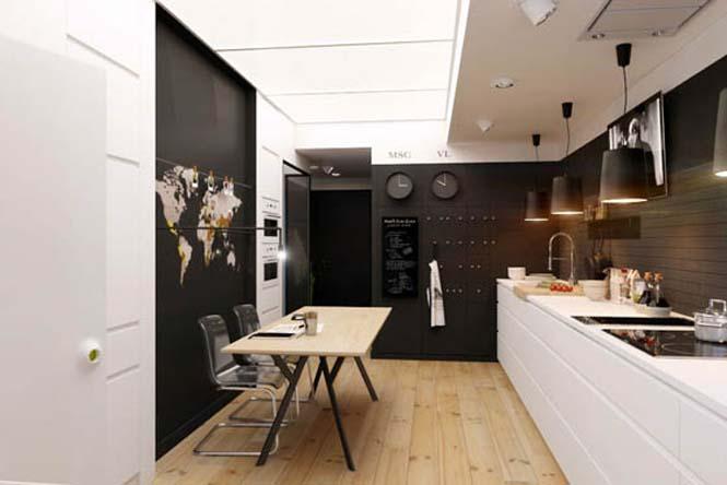 Διαμέρισμα με έμφαση στην αντίθεση άσπρου - μαύρου (1)