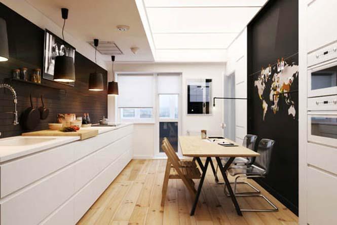 Διαμέρισμα με έμφαση στην αντίθεση άσπρου - μαύρου (2)