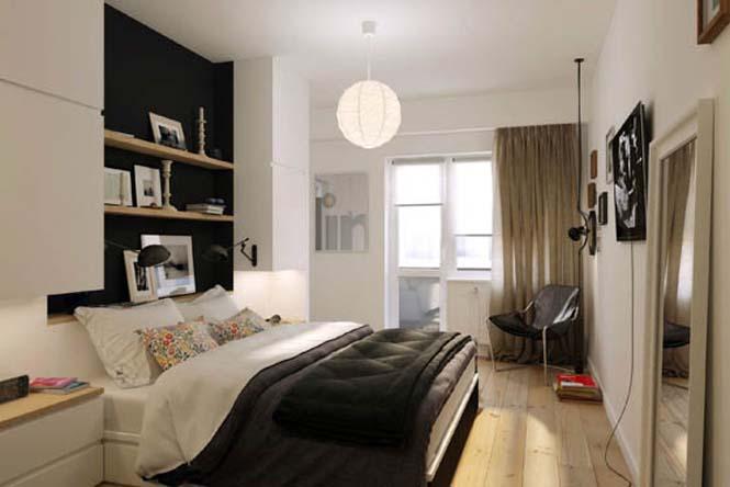 Διαμέρισμα με έμφαση στην αντίθεση άσπρου - μαύρου (6)