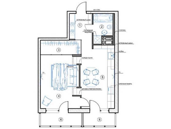 Διαμέρισμα με έμφαση στην αντίθεση άσπρου - μαύρου (8)