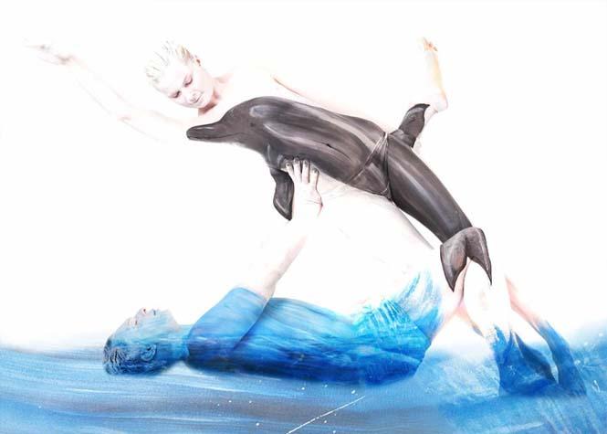 Εκπληκτικά Body paintings μετατρέπουν ανθρώπους σε ζώα ή όργανα του σώματος (2)