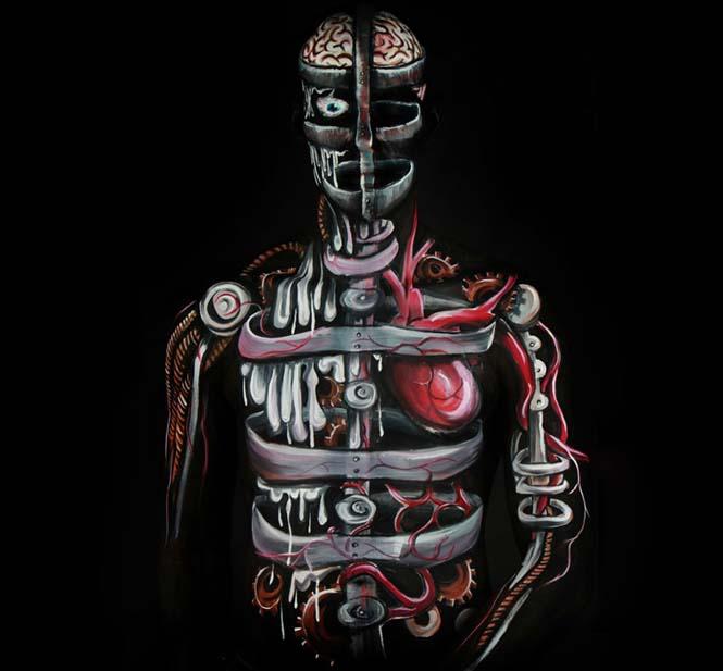 Εκπληκτικά Body paintings μετατρέπουν ανθρώπους σε ζώα ή όργανα του σώματος (4)