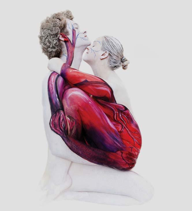 Εκπληκτικά Body paintings μετατρέπουν ανθρώπους σε ζώα ή όργανα του σώματος (9)