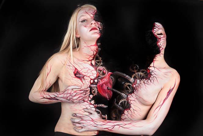 Εκπληκτικά Body paintings μετατρέπουν ανθρώπους σε ζώα ή όργανα του σώματος (15)
