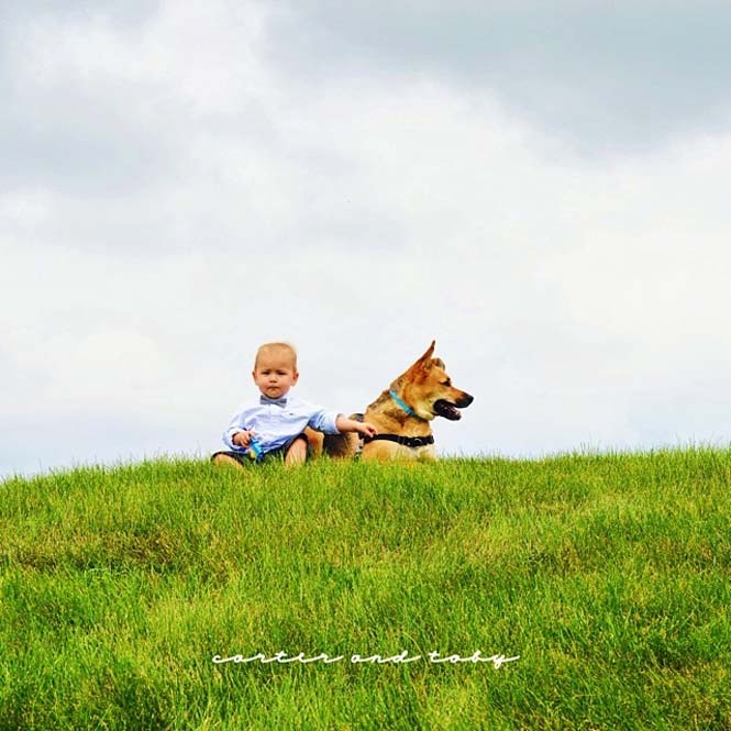 Ένα μωρό και ο τετράποδος κολλητός του (8)