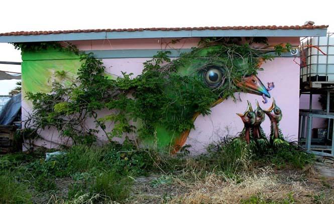 Όταν η τέχνη του δρόμου γίνεται ένα με το περιβάλλον (5)