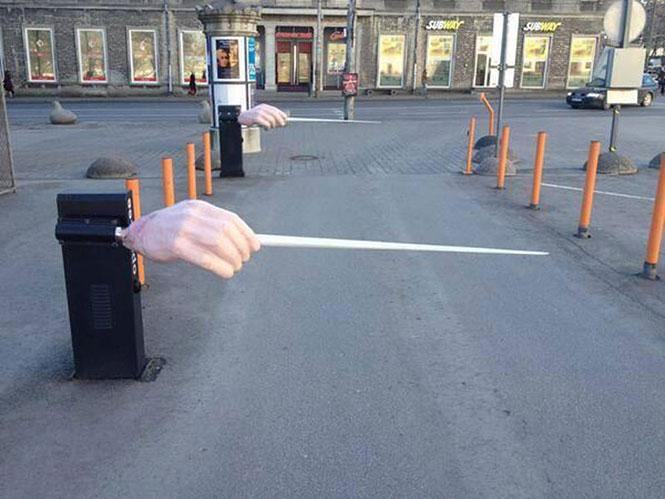 Η είσοδος στο πάρκινγκ της Εθνικής Όπερας της Εσθονίας | Φωτογραφία της ημέρας