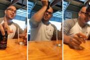 Σερβίροντας μια μπύρα με το... μέτωπο