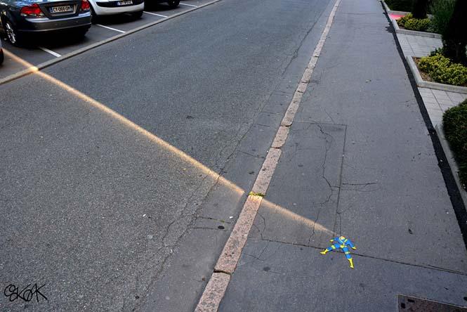 Χιουμοριστική τέχνη του δρόμου από τον OaKoAk (2)