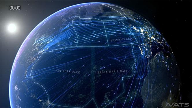 Όλες οι υπερατλαντικές πτήσεις ενός 24ωρου σε 2 λεπτά