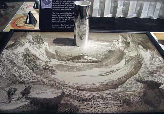Έργα τέχνης που είναι ορατά μόνο με τη βοήθεια ενός κυλινδρικού καθρέπτη (2)