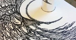 Έργα τέχνης που είναι ορατά μόνο με τη βοήθεια ενός κυλινδρικού καθρέπτη