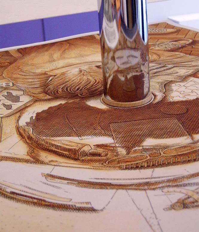 Έργα τέχνης που είναι ορατά μόνο με τη βοήθεια ενός κυλινδρικού καθρέπτη (5)